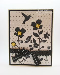 Black & White Wildflower Meadow by Brunie - Cards and Paper Crafts at Splitcoaststampers