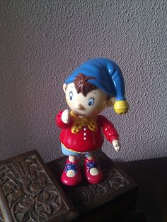 RESERVED Vintage Golden bear products Noddy rattle figurine