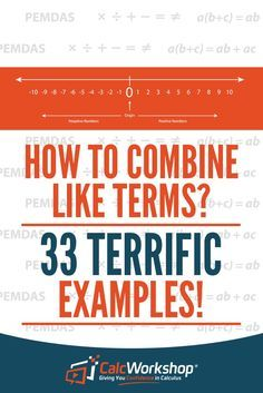 Combing like terms - excellent video lesson with 33 example problems. this online lesson covers adding and subtracting coefficients across expressions, Simplifying Expressions, Math Expressions, Algebraic Expressions, Online Math Courses, Learn Math Online, Math Properties, Algebra Lessons, Algebra Activities, Math Resources