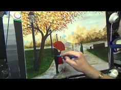 Beginners Acrylic Painting Tutorial- Autumn Rain in the Park Part 6 - YouTube