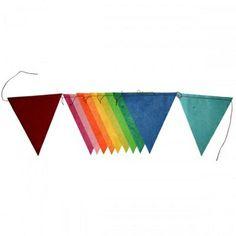 Vlaggenlijn Lokta Papier Regenboog