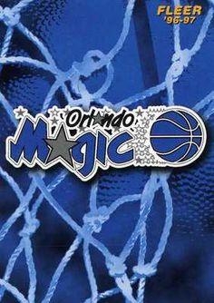 RARE 96/97 FLEER ORLANDO MAGIC NBA TEAM LOGO CARD MINT