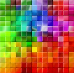 Title : My Mosaic Color Palette Inspired By : Mosaic Art and Photoshop Color Palette Medium : Photoshop Primary Color : Rainbow Note From Artist : A Mos. My Mosaic Color Palette