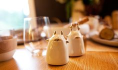 Grace Eunmi Lee – Salt and Pepper Shakers available at www.tuckstudio.ca Unique Settings, Table Settings, Pick One, Hgtv, Earthy, Decorative Items, Pepper, Vibrant, Salt