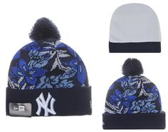 0d992eafb63 MLB New York Yankee Beanies Mitchell And Ness Knit Hats Plant Leaf Gray