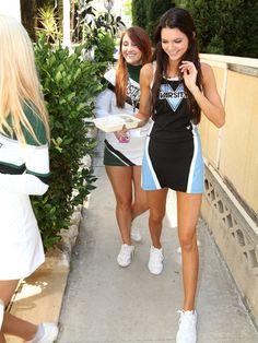 Kendall Jenner showing school spirit