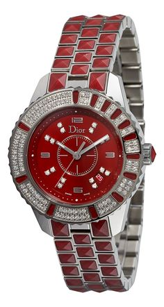 Christian Dior Women's CD11311HM001 Christal Diamond Red Dial Watch -- You can get additional details at the image link.