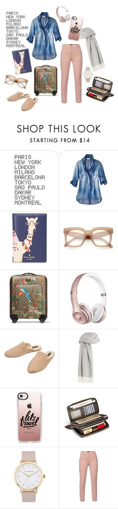 """""""Airport Arrival"""" by liahayes ❤ liked on Polyvore featuring ADZif, Kate Spade, ZeroUV, Gucci, Beats by Dr. Dre, Eloquii, Agnona, Casetify, The Horse and WtR"""