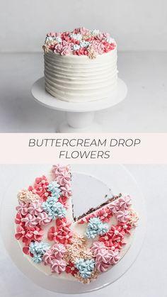Cake Decorating Frosting, Cake Decorating Designs, Cake Decorating Videos, Birthday Cake Decorating, Cake Decorating Techniques, Simple Cake Decorating, Cupcake Frosting Techniques, Buttercream Cake Designs, Buttercream Birthday Cake