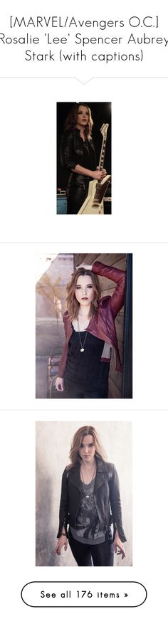"""[MARVEL/Avengers O.C.] Rosalie 'Lee' Spencer Aubrey Stark (with captions)"" by katlayden ❤ liked on Polyvore featuring models, people, pictures, marie avgeropoulos, hair, jewelry, watches, chrissy costanza, photography and outfits"