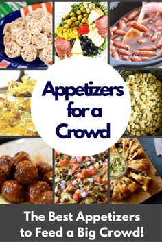 These are the best appetizers for a crowd! Be the hit of the party with these easy appetizers. From dips to finger foods to trays. These bite sized apps will delight and fill your guests! for party crowd pleasers cold The BEST Appetizers for a Crowd Cheap Appetizers, Appetizers For A Crowd, Finger Food Appetizers, Easy Appetizer Recipes, Appetizer Ideas, Finger Food Recipes, Cold Party Appetizers, Bite Size Appetizers, Potluck Recipes