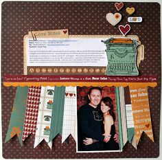 """Another great layout by Deana Boston! Deana use my """"messages"""" paper collection!"""