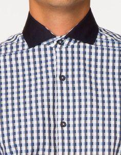 YUNY Mens Solid Turn-Down Collar Long Sleeve Business Classic Shirt Navy Blue 2XL