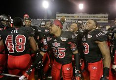 The Red Wolves celebrate!