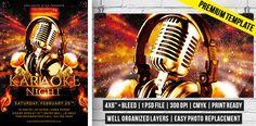Karaoke Night – Premium Flyer Template http://www.exclusiveflyer.com/premium-templates/karaoke-night-premium-flyer-template/
