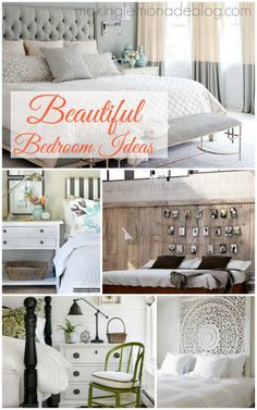 Beautiful Master Bedroom Ideas: Gorgeous Bedroom Inspiration #interiordesign #bedrooms via www.makinglemonadeblog.com