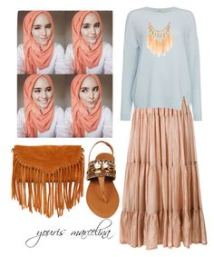 """Hijab Hippies Style part 2"" by yourism on Polyvore featuring Mes Demoiselles..., J Brand and SUSU"