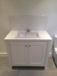 White Vanity Unit With Painted Top Aspenn Furniture Make Bespoke Units From Natural Pine