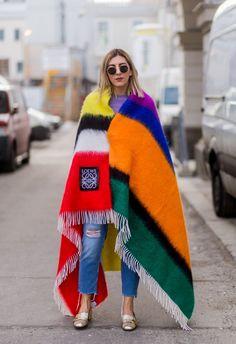 Time for Fashion » 6 Maneras de llevar la bufanda (manta) este invierno