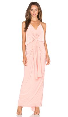 MISA Los Angeles Domino Tie Front Maxi Dress en Rubor | REVOLVE