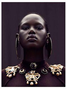 Futuristic Urban Fashion - The Editorial by Julia Noni for Obsession Magazine Stars Ajak Deng