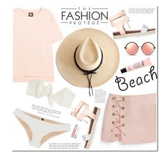 """""""No 398:The Beach"""" by lovepastel ❤ liked on Polyvore featuring Ivy Park, Rebecca Minkoff, Miss KG, Lisa Marie Fernandez, Matthew Williamson, Ryan Roche, Christian Dior, philosophy, beach and summerdate"""