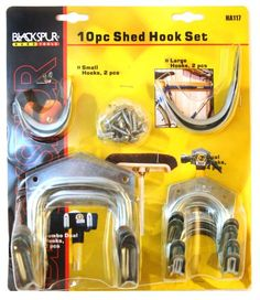Free delivery and returns on all eligible orders. Shop Blackspur Shed Hook Set - 10 Pieces Garden Power Tools, Garage Shed, Metal Tools, Bikes For Sale, Diy Tools, Bicycle, Storage, Wall, Ebay