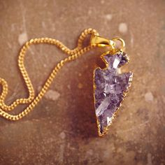 PRESERVE.us - Natural Amethyst Arrowhead Necklace