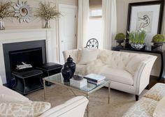 A modern chic living room with silver accents. #EthanAllen #EthanAllenBellevue #LivingRoom