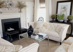 A modern chic living room with silver accents. #EthanAllen #EthanAllenBellevue #LivingRoom