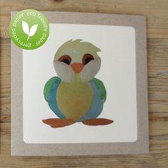 Eco friendly greeting card chubby bird with kraft by koopmaninvorm, €2.50