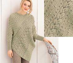 Оригинальный пуловер-пончо