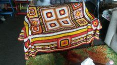 Handmade by my sweet sister-in-law Ineke..retro style, seventies. She sooo knows what I like😊