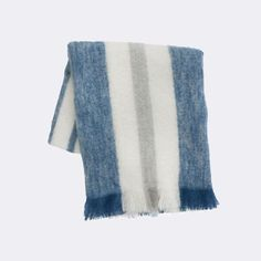 The beautiful Mohair Throw blanket is made of 70% mohair, 24% wool and 6% nylon. This soft and warm blanket will keep you cozy in winter and during cool summer nights.