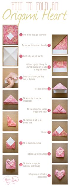 Origami Heart {With A Surprise} - Designs By Miss Mandee