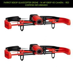 Parrot Bebop Quadcopter Drone - 14 MP 1080p HD Camera - Red (Certified Refurbished) #kit #parrot #racing #tech #camera #products #drone #plans #drone #parts #1 #fpv #technology #shopping #gadgets