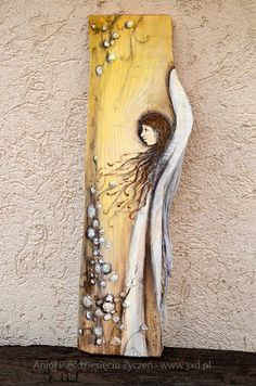Wood Angel, Angel Artwork, Beaded Angels, Angel Drawing, Book Page Art, Christmas Wood Crafts, Angel Crafts, Jesus Art, Angel Pictures