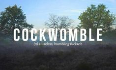 Cockwomble | Scottish swear words