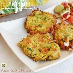 Frittelle di zucchine con formaggio  Blog Profumi Sapori & Fantasia