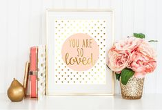 You are so loved faux gold foil and pink digital by LiviLouDesigns