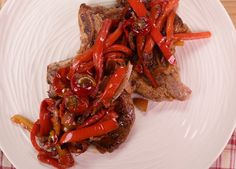 Mario Batali's Pork Chops with Peppers and Capers. #The Chew