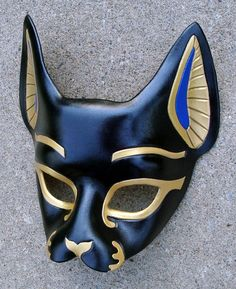 By MeriMask on Deviant Art or Facebook, handmade leather masks of many styles and themes. I have wanted this Bast mask for a long time and will be getting one soon.