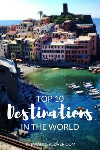 Best places to visit, travel, and vacation in the world. These are my personal top 10 must-see favorite destinations! South Africa, Maldives, Thailand, Italy, just to name a few.