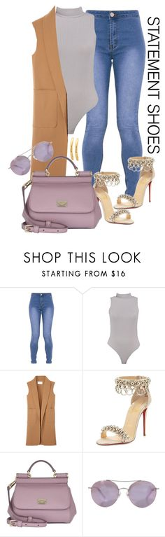 """""""""""GLAM""""orous"""" by moonlightprinces on Polyvore featuring Boohoo, Alexander Wang, Christian Louboutin, Dolce&Gabbana and Matthew Williamson"""