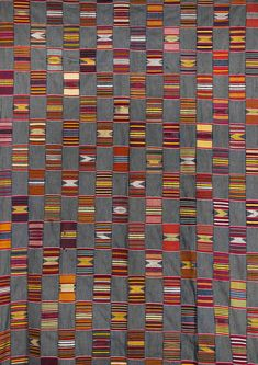Africa | Strip woven cloth from the Ewe people of Togo | Cotton, locally woven and dyed.
