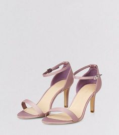 Wide Fit Pink Sateen Ankle Strap Heels | New Look