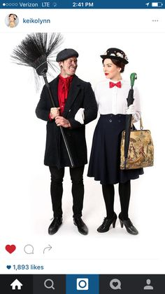 0d65f240f9a Mary Poppins Mary Poppins Kostüm, Mary Poppins And Bert Costume, Mary  Poppins Halloween Costume
