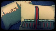 Beautiful cushions of London landmarks from Fine Cell Work