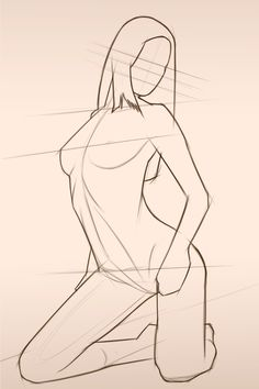 Chantal female body form 2 sketch