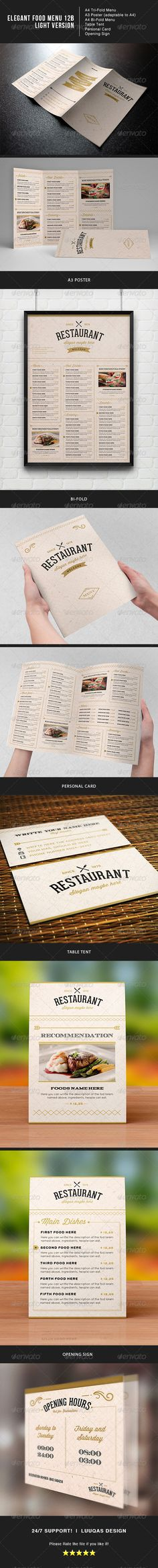 Vintage Food Menu  Vintage Food Food Menu And Brochure Template